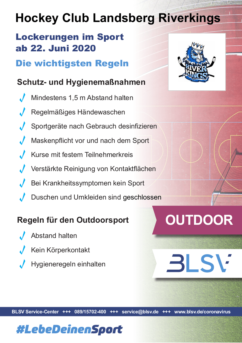 Plakat Sportbetrieb Outdoor
